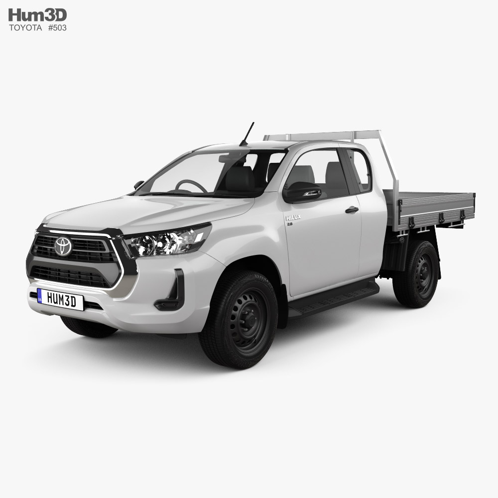 3D model of Toyota Hilux Extra Cab Chassis SR 2020