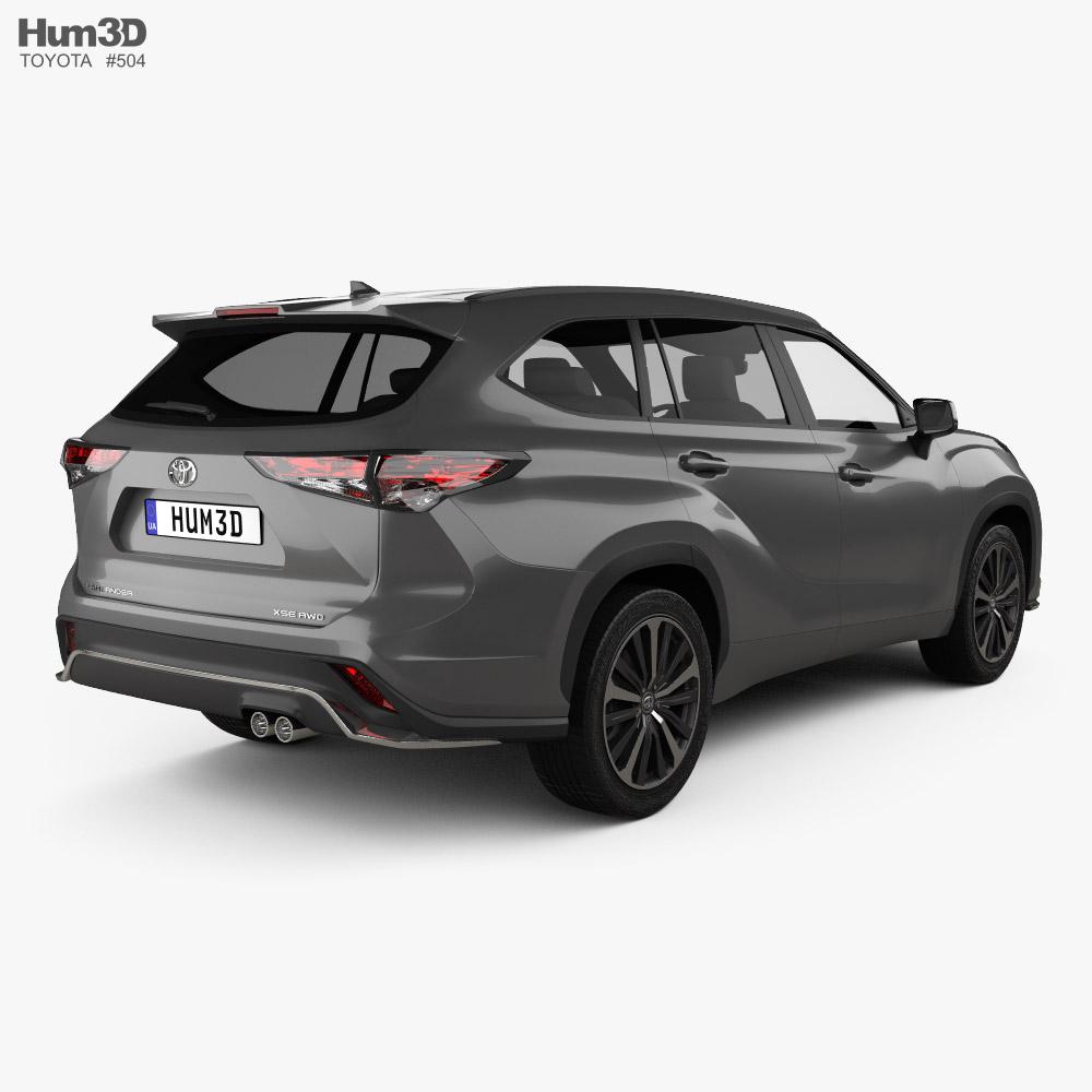 Toyota Highlander XSE 2020 3d model