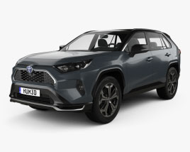 3D model of Toyota RAV4 PHEV 2020