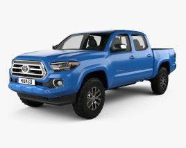 Toyota Tacoma Double Cab Short Bed Limited 2021 3D model