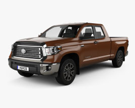 Toyota Tundra Cabina Doble Standard Bed Limited 2021 Modelo 3D
