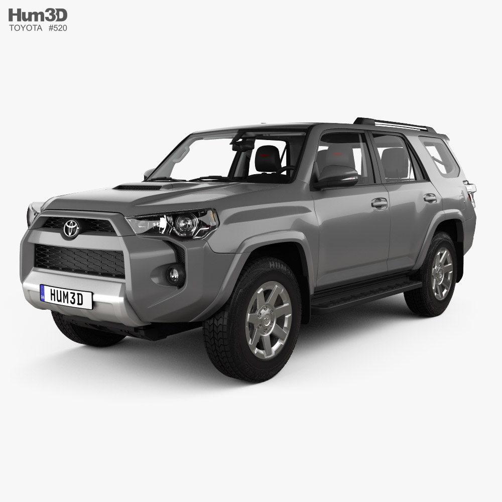 Toyota 4Runner TRD Offroad with HQ interior 2013 3D model