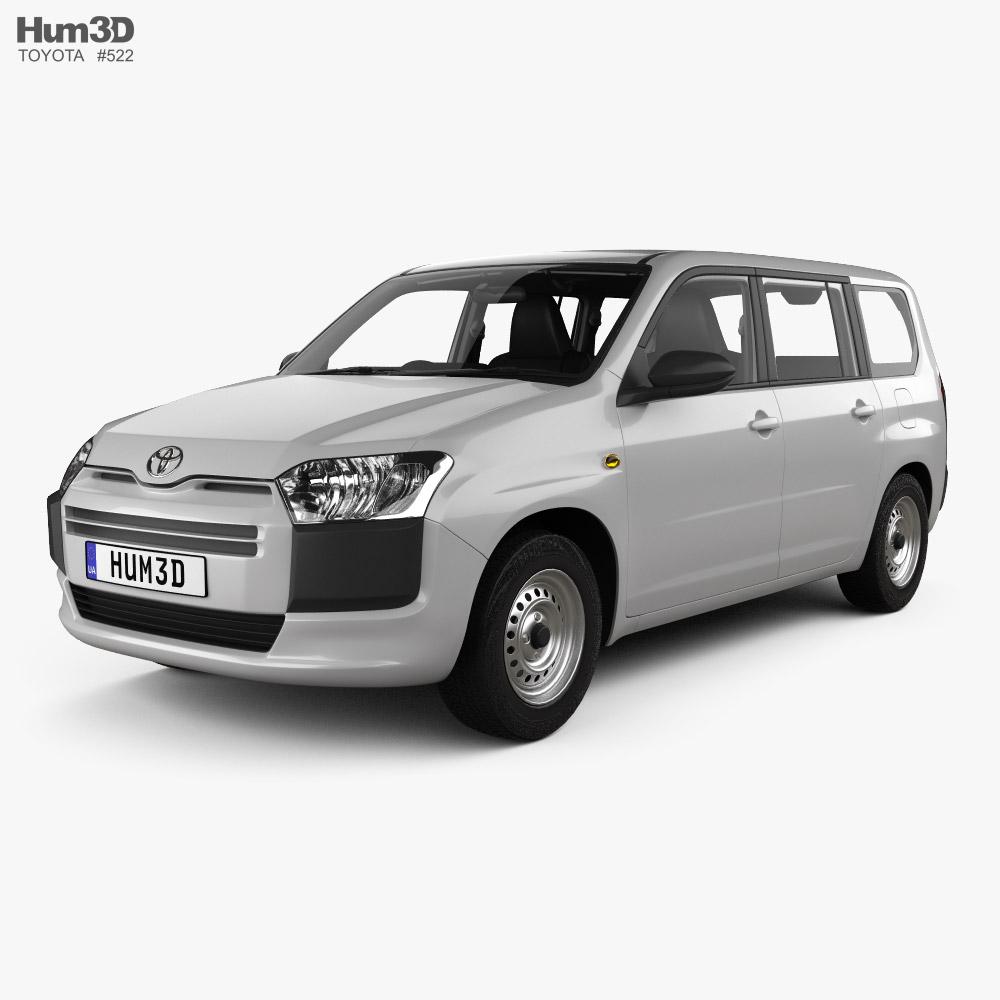 Toyota Probox DX van with HQ interior 2015 3D model