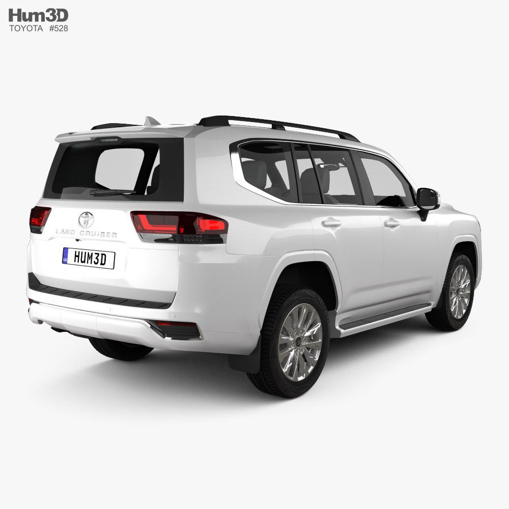 Toyota Land Cruiser 2021 3d model back view