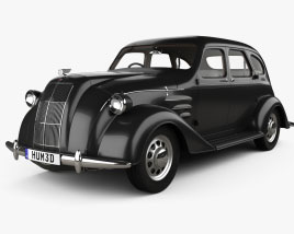 Toyota AA with HQ interior 1940 3D model