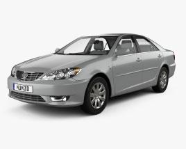 Toyota Camry LE con interior 2004 Modelo 3D