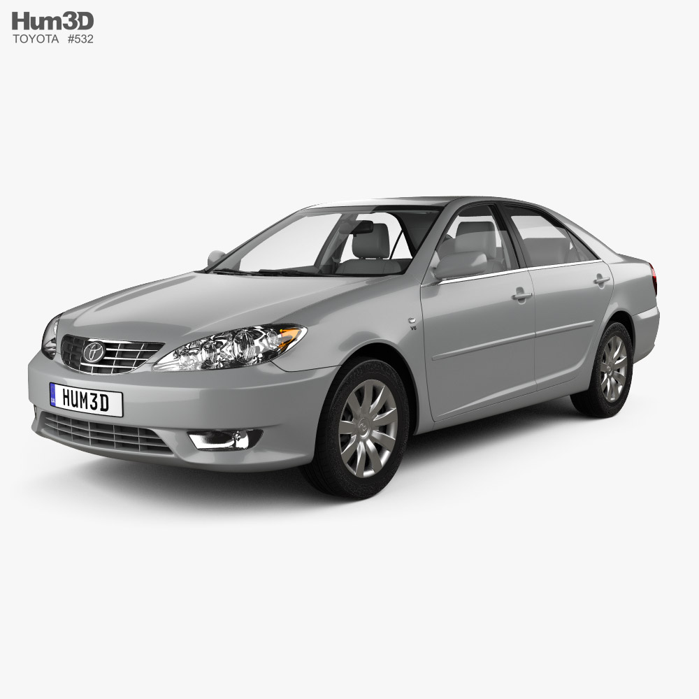 Toyota Camry LE with HQ interior 2004 3D model