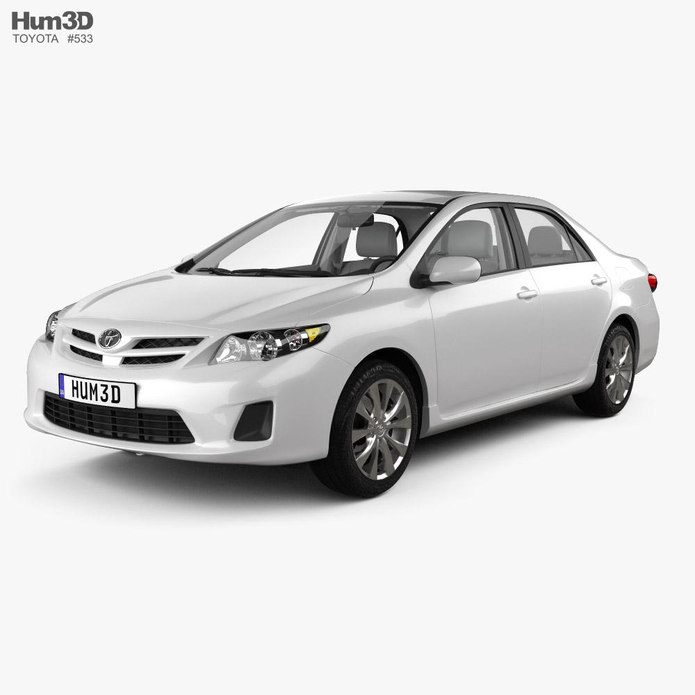 Toyota Corolla LE with HQ interior 2011 3D model