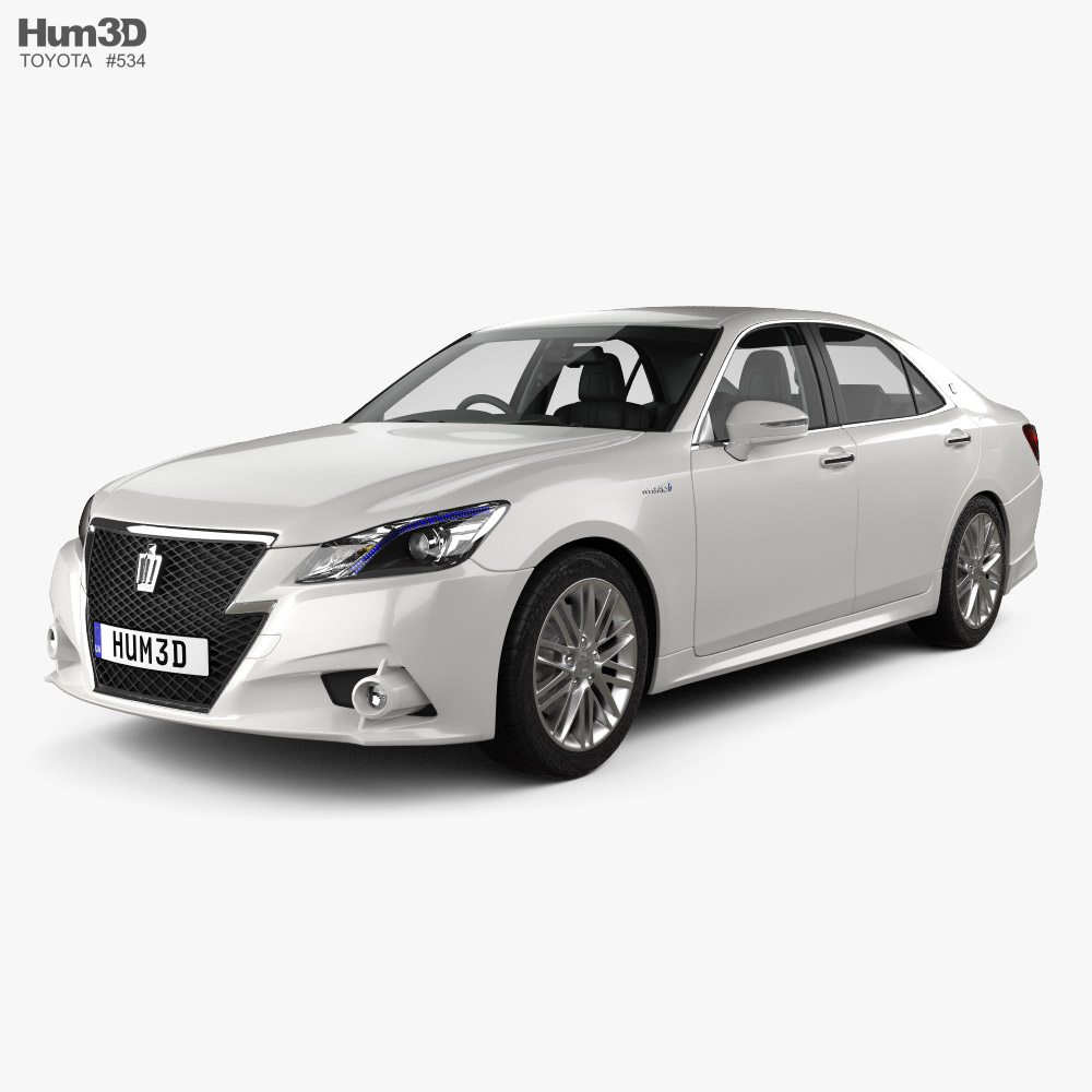 Toyota Crown Hybrid Athlete with HQ interior 2013 3D model