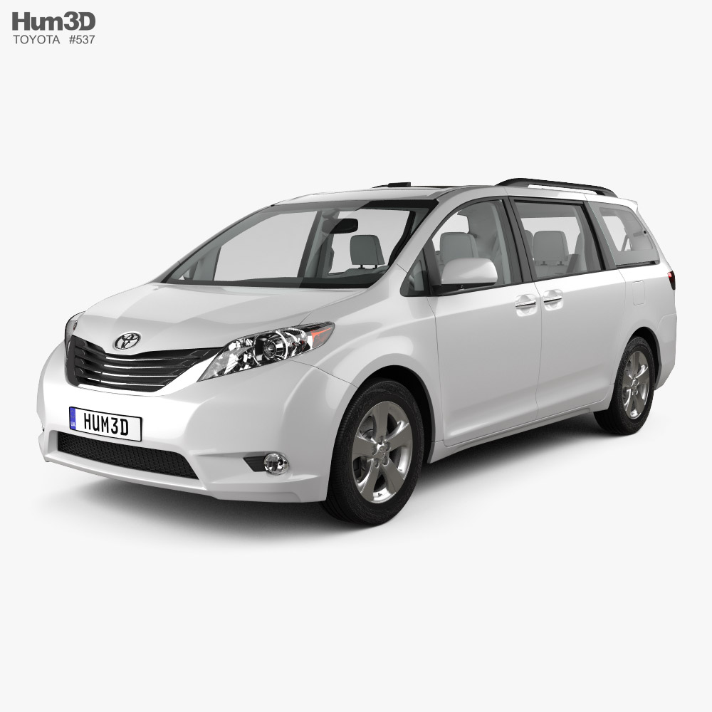 Toyota Sienna with HQ interior 2011 3D model