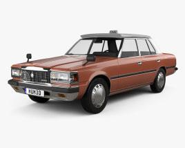 Toyota Crown Taxi 1982 Modelo 3D