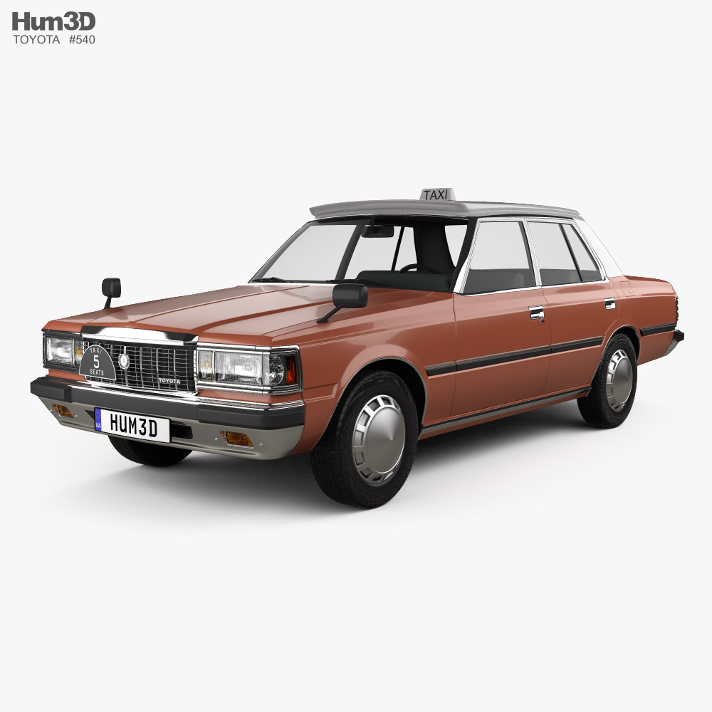 Toyota Crown Taxi 1982 3D model