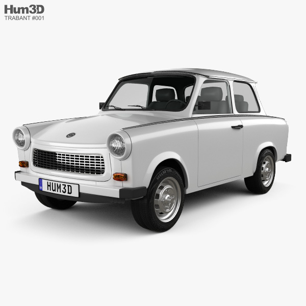 Trabant 601 Sedan 1963 3D model