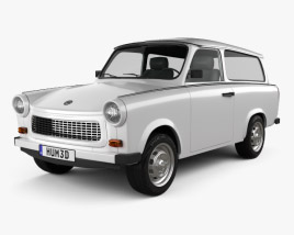trabant 601 sedan 1963 3d model vehicles on hum3d. Black Bedroom Furniture Sets. Home Design Ideas