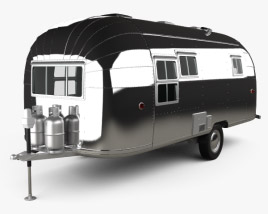 3D model of Airstream Flying Cloud Travel Trailer 1954