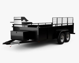 3D model of Generic Utility Car Trailer 2-axle 2016