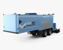 3D model of Coldmix Asphalt Repair Semi-Trailer 2016