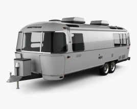 3D model of Airstream Land Yacht Travel Trailer 2014