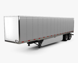 3D model of Utility 4000D-X Composite Wall Semi Trailer 2014