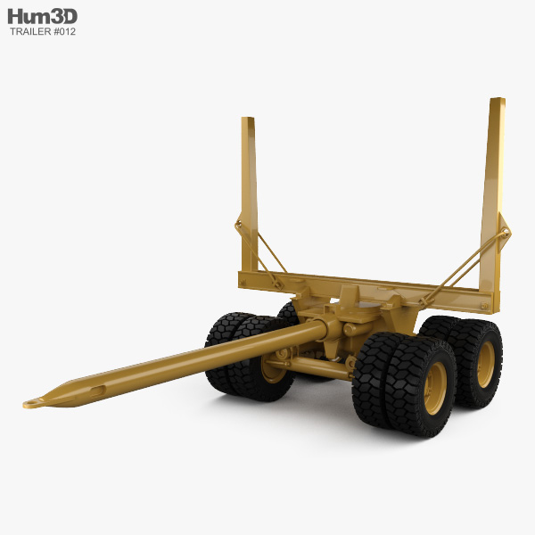 Pacific Log Trailer 1978 3D model