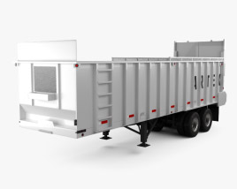 3D model of Artex TR3606-8 Silage Semi Trailer 2018