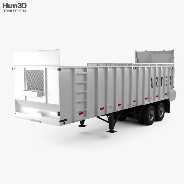 Artex TR3606-8 Silage Semi Trailer 2018 3D model