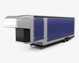 3D model of LOHR Confidential Car Transporter Semi Trailer 2015