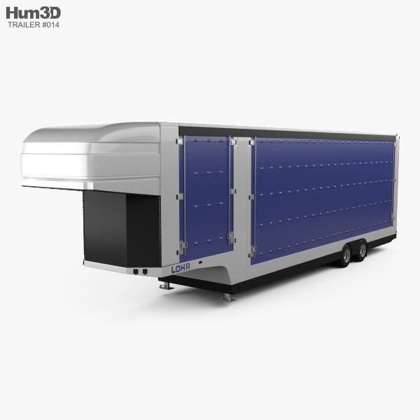 LOHR Confidential Car Transporter Semi Trailer 2015 3D model