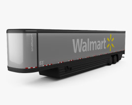 3D model of Peterbilt Walmart AVEC Semi Trailer 2015