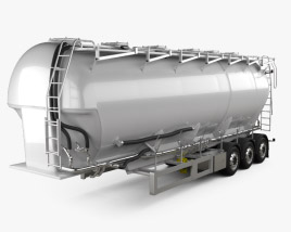 3D model of Scania Tanker Semi Trailer 2017
