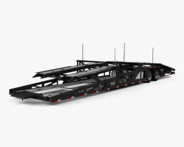 3D model of Volvo VAH Car Hauler Trailer 2018
