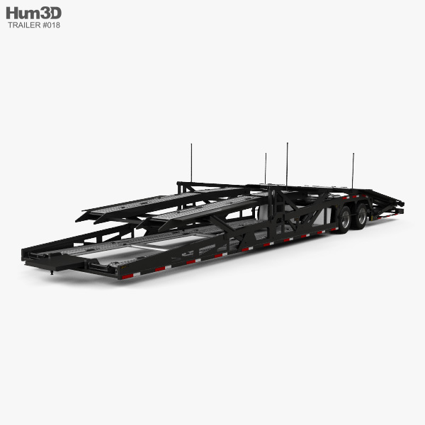Volvo VAH Car Hauler Trailer 2018 3D model