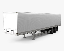 3D model of Fruehauf FVA241C Dry Van Semi Trailer 2017