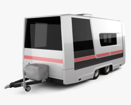 3D model of GAZ Gazelle Next Ambulance Trailer 2017