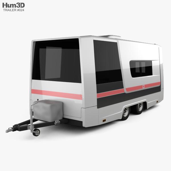 GAZ Gazelle Next Ambulance Trailer 2017 3D model
