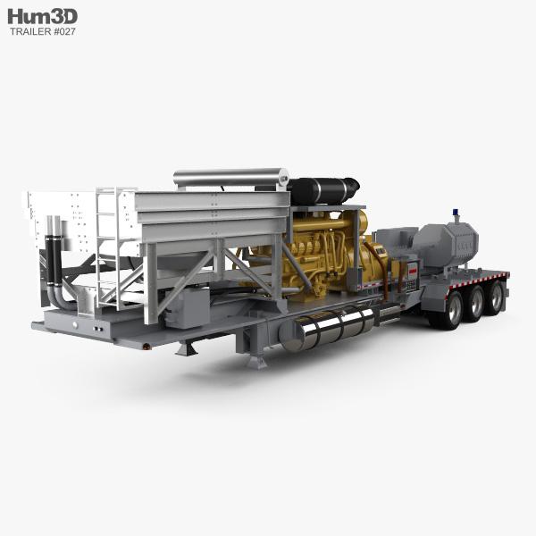 Fracturing Unit Semi Trailer 2018 3D model
