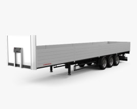 3D model of Schwarzmueller Platform Semi Trailer 3-axle 2016