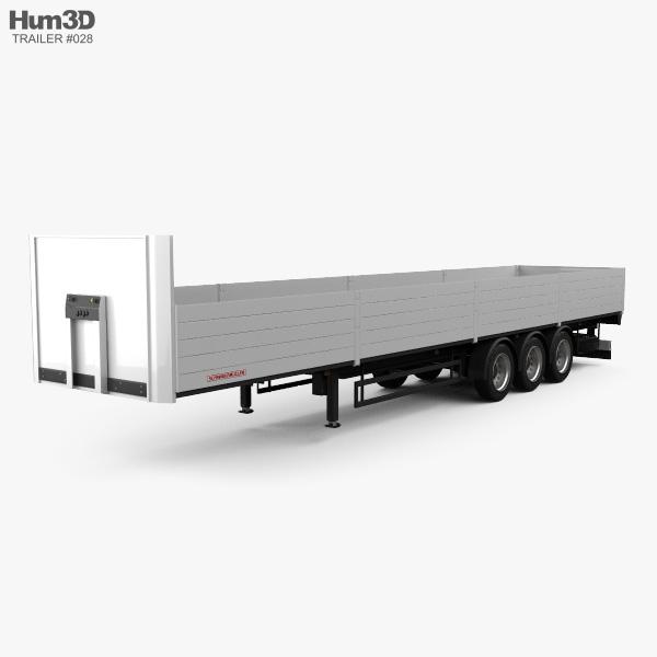 Schwarzmueller Platform Semi Trailer 3-axle 2016 3D model