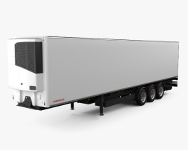 3D model of Schwarzmueller Refrigerator Semi Trailer 3-axle 2016