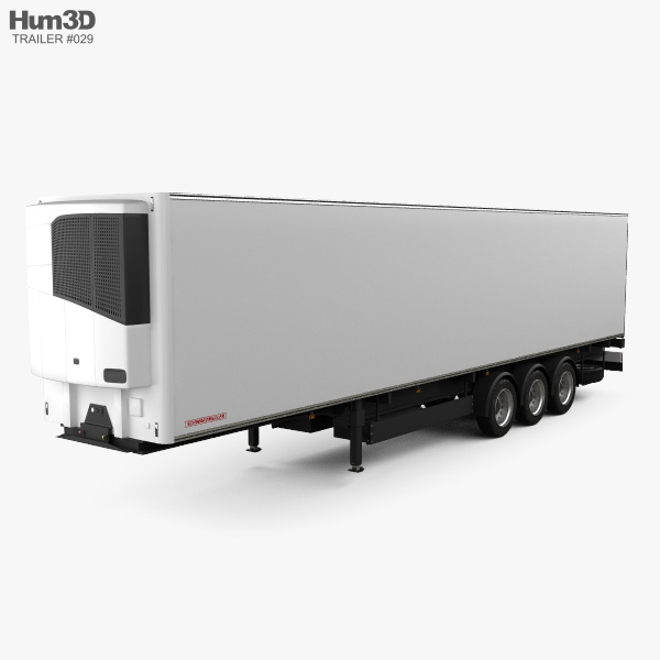 Schwarzmueller Refrigerator Semi Trailer 3-axle 2016 3D model