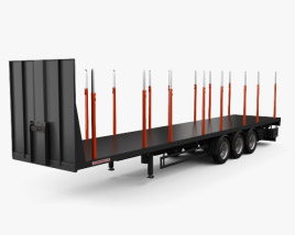 3D model of Schwarzmueller Timber Semi Trailer 3-axle 2016