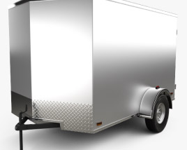 3D model of Continental Cargo Car Trailer 2015