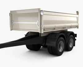 3D model of Meiller-Kipper D316 Tipper Centre-axle Trailer 2012