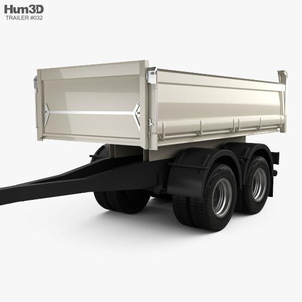 Meiller-Kipper D316 Tipper Centre-axle Trailer 2012 3D model