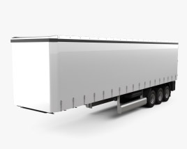 3D model of Generic Curtainsider Semi Trailer 2012