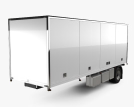 3D model of Generic Dry Van Semi Trailer 2011