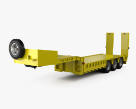 3D model of Generic Platform Semi Trailer 2011
