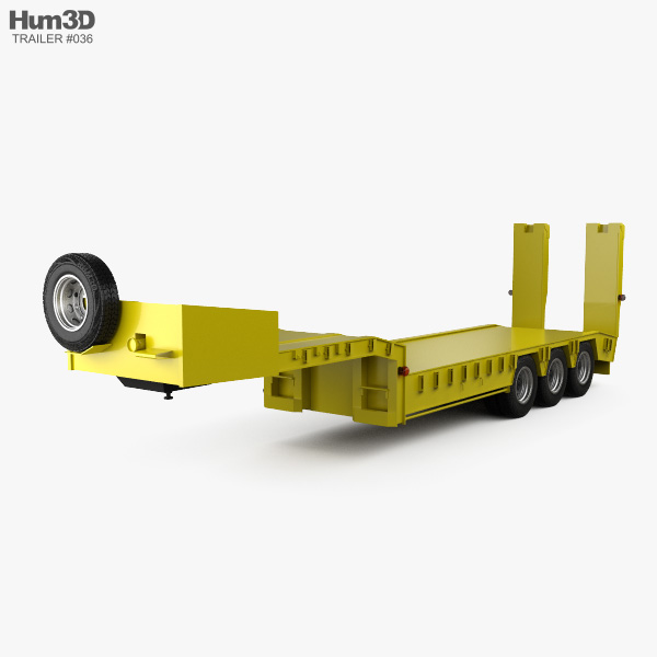 Generic Platform Semi Trailer 2011 3D model