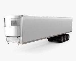 3D model of Generic Refrigerator Semi Trailer 2006