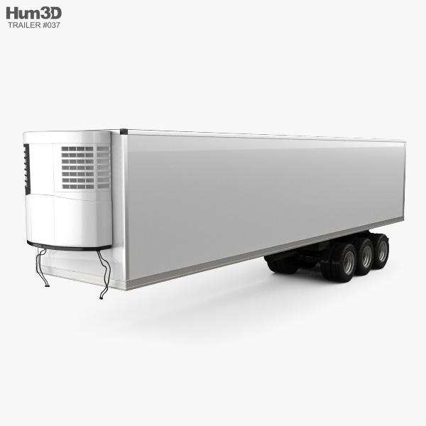 Generic Refrigerator Semi Trailer 2006 3D model